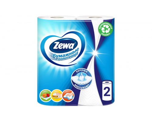 Zewa полотенце бумажное 2-сл 15м/рул (2 рулона)