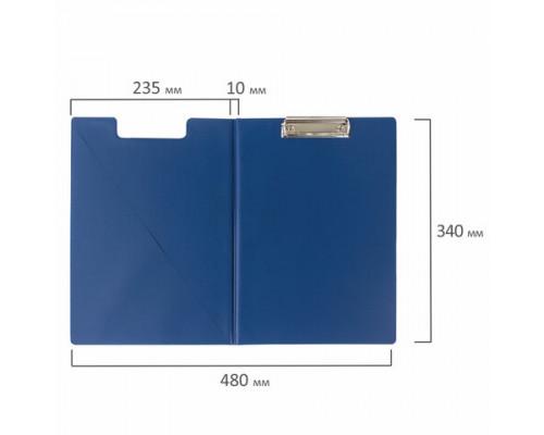 Папка-планшет Brauberg  А4 картон/ПВХ, синяя
