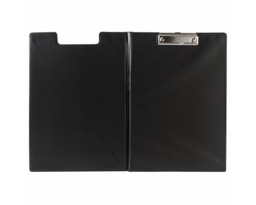 Папка-планшет Brauberg  А4 картон/ПВХ, черная