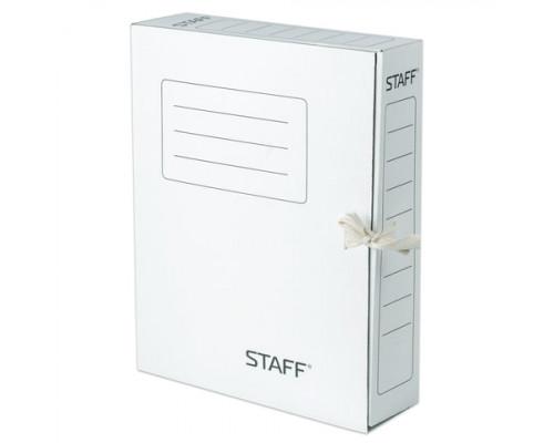 Папка-бокс на завязках  Staff А4 075 мм. картонная