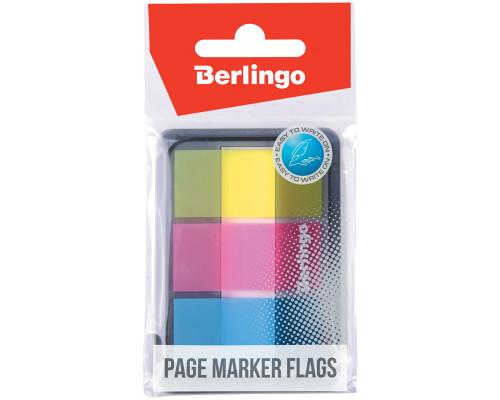 Стикеры-закладки Berlingo 3 цвета (20 л.) пластиковые прямоугольные