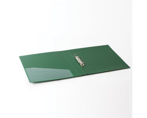 Папка 2 кольца мягкая с карманом А4 (35 мм.) зеленая