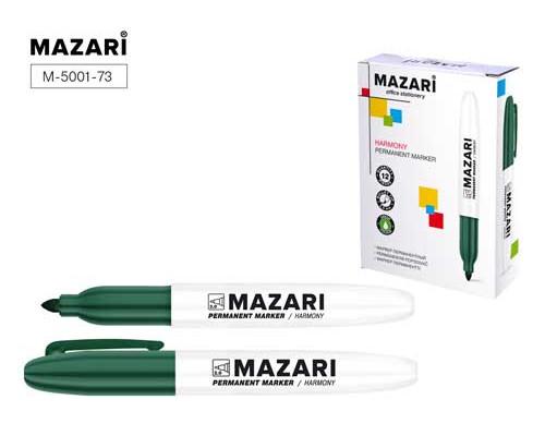 Маркер перманентный Mazari Harmony зеленый конус 2мм