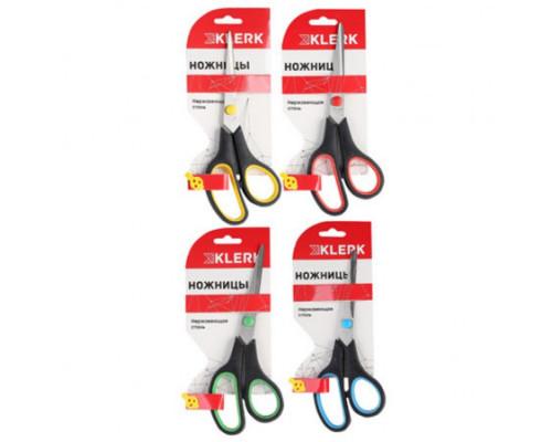 Ножницы универсальные Klerk 19,0 см (пластиковые ручки с резиновыми вставками)