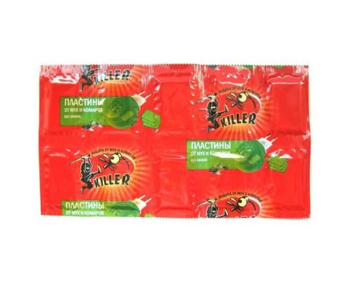 Пластины Киллер красные от комаров и мух (10шт)