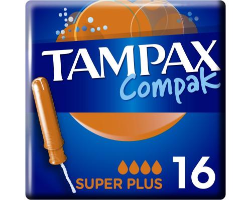 Тампакс Компак тампоны Super plus с апл. (16 шт) 4 капли