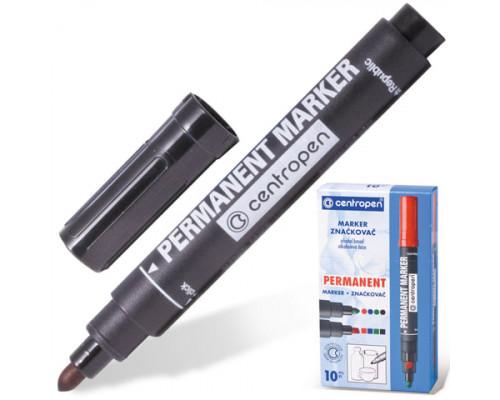 Маркер перманентный Centropen (8566) черный 2,5 мм