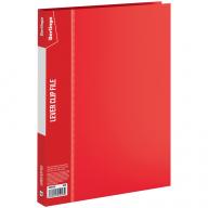 Папка с зажимом и карманом Berlingo А4 красная