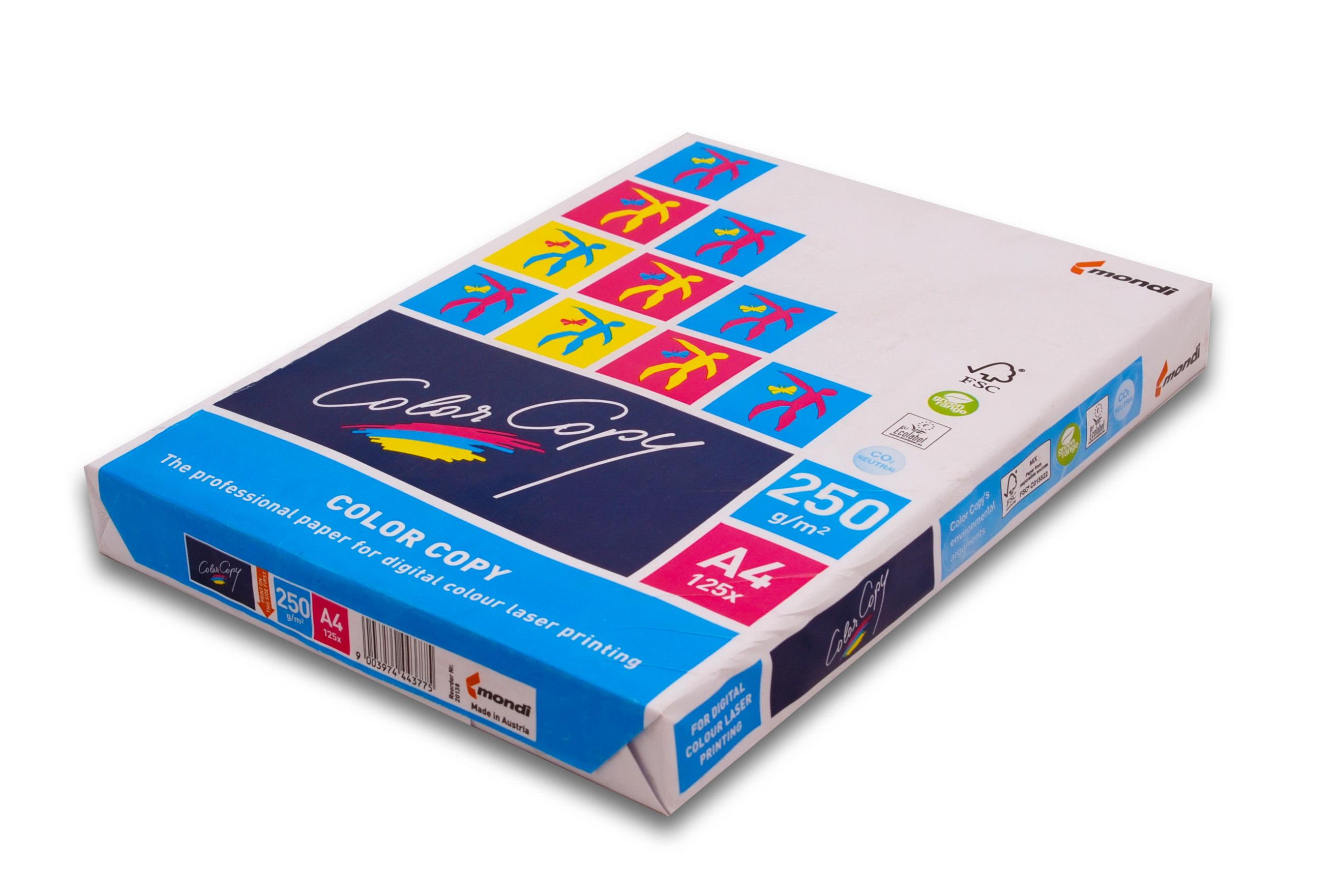 Бумага белая А4 (250 г/м) 125 л. Color Copy