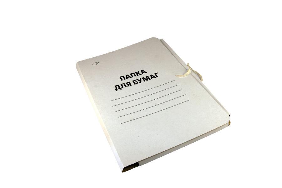 Папка картонная на завязках А4 Office Space 280 г/м2