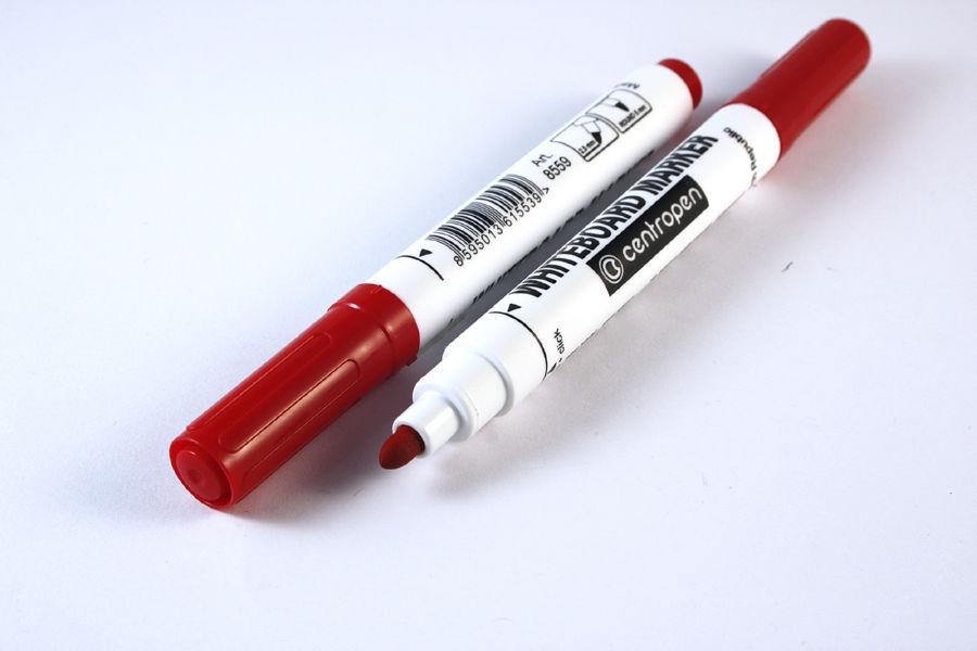 Маркер для досок Centropen (8559) красный 2,5 мм