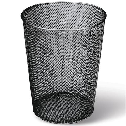 Корзина для бумаг Brauberg 9л металлическая круглая, черная