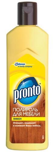 Pronto полироль крем средство по уходу за мебелью Лимон 300 г