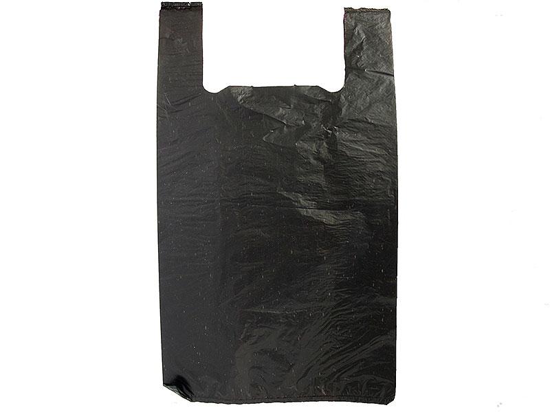 Пакет Майка Чёрный (30 х 55 см.)  100 шт