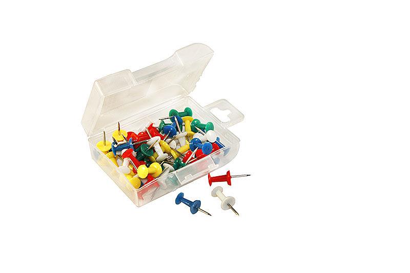 Кнопки-гвозди Berlingo (050 шт.) в пластиковой упаковке цветные