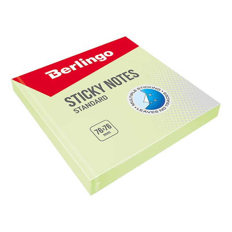 Стикер Berlingo 076х076 мм. (100 л.) зеленый