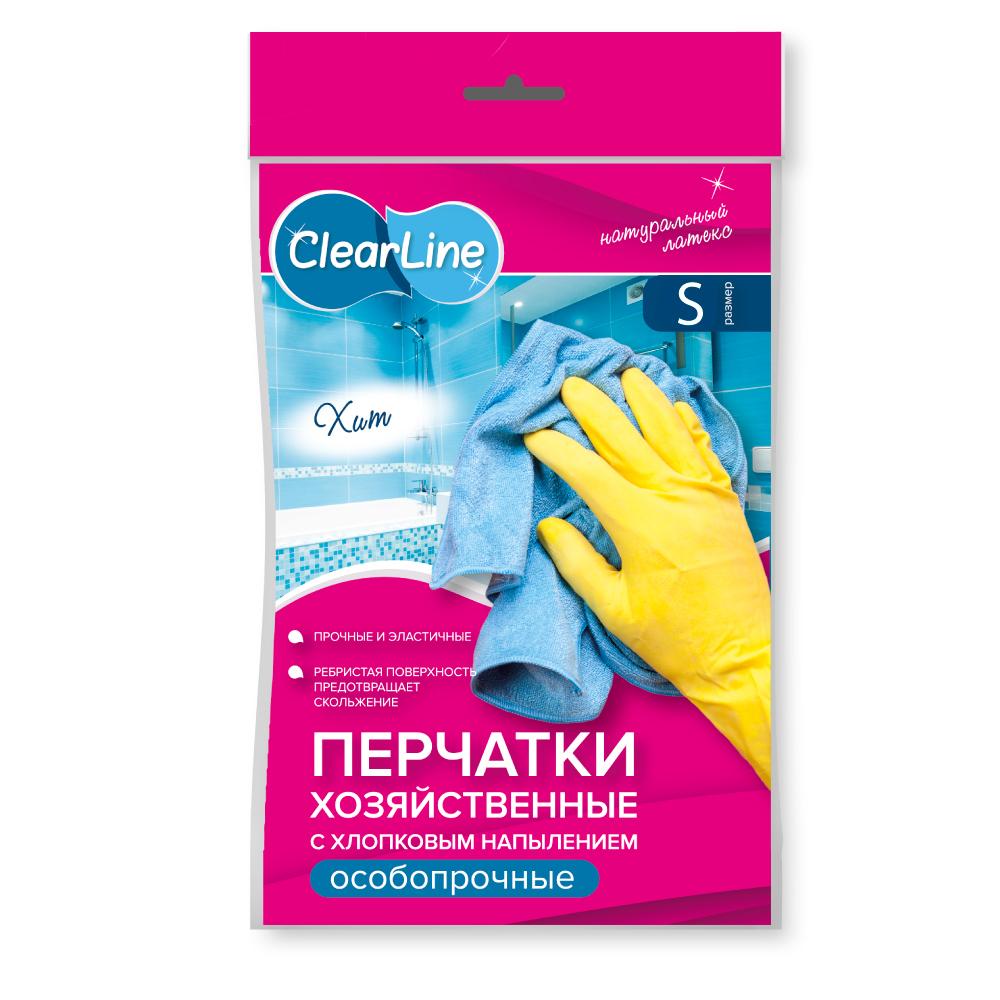 Clear Line перчатки резиновые EXTRA прочные (S)