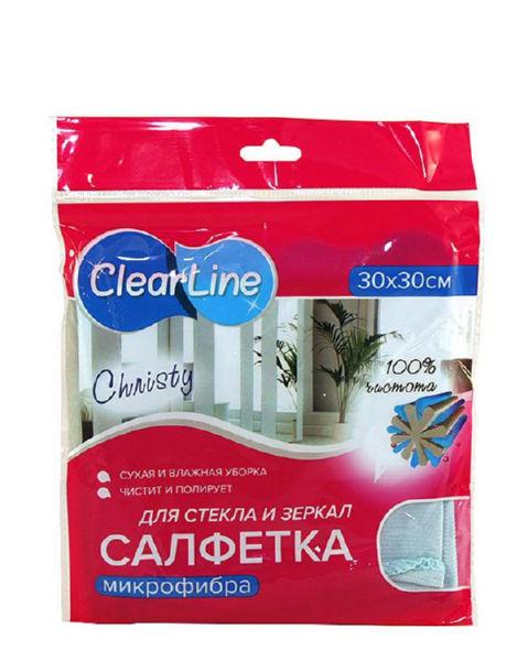 Clear Line салфетка из микрофибры для стекла Christy (30х30см)