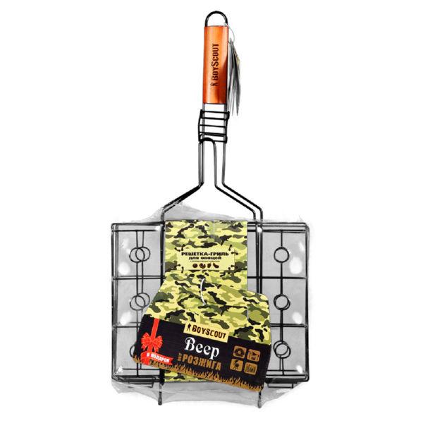 Решетка-гриль Boyscout для овощей с антипригарным покрытием (59(+4)х31х25х7 см)