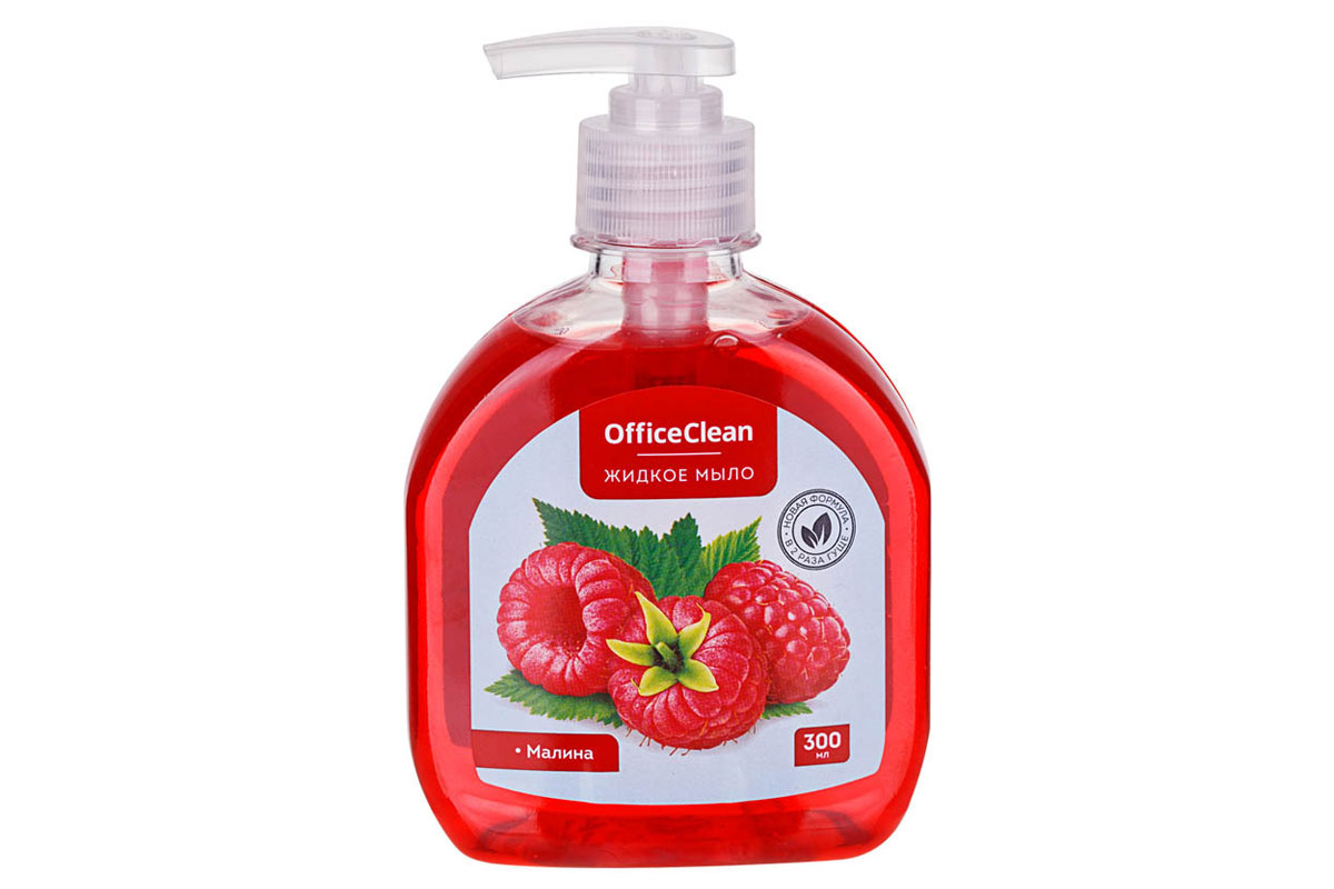 OfficeClean жидкое мыло Малина 300 мл. с дозатором