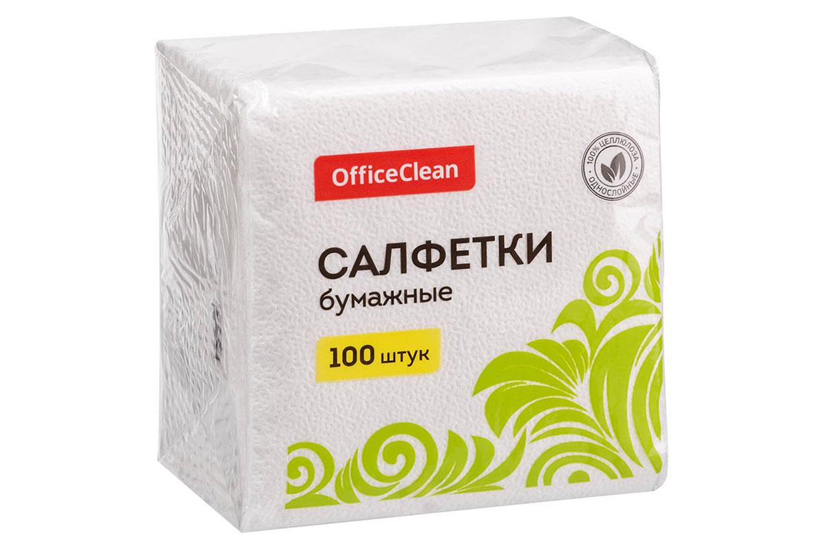 OfficeClean салфетка столовая 1 сл 24*24  (100 шт.)
