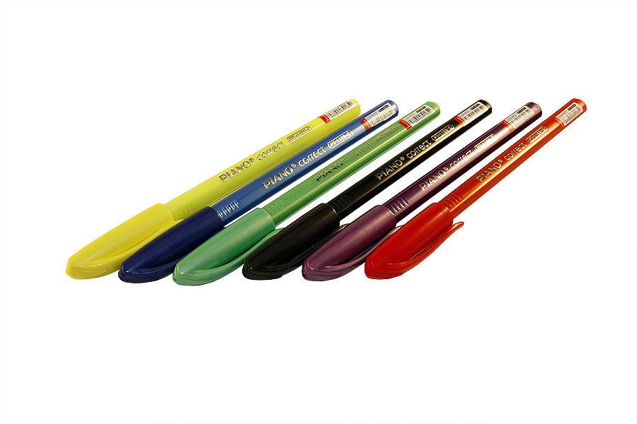 Ручка шариковая Piano Correct синяя (126),0.25 мм