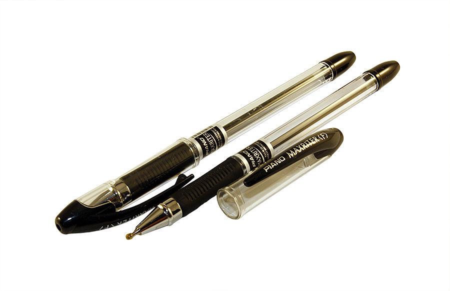 Ручка шариковая Piano Maxriter черная (140), 0.25 мм