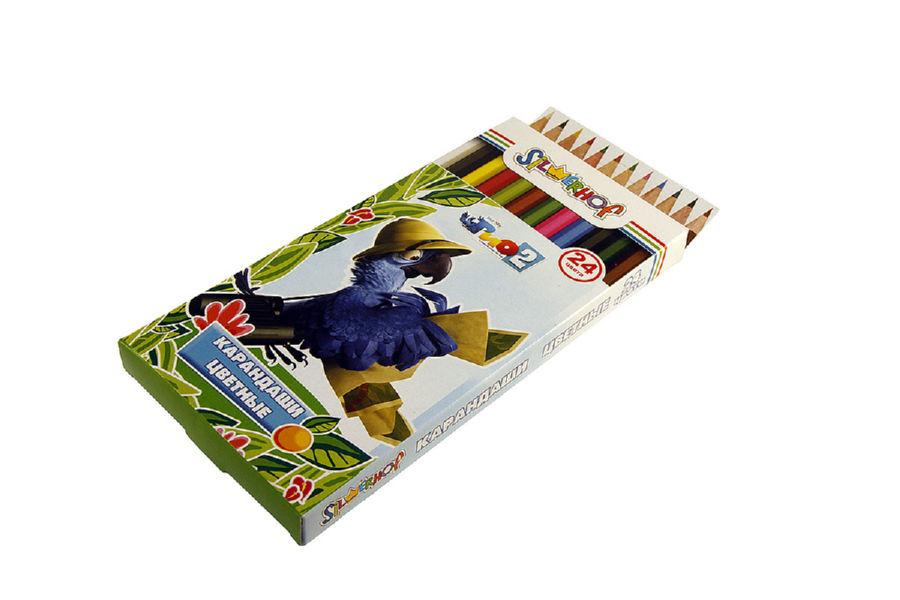 Карандаши цветные 24 шт Silwerhof Rio
