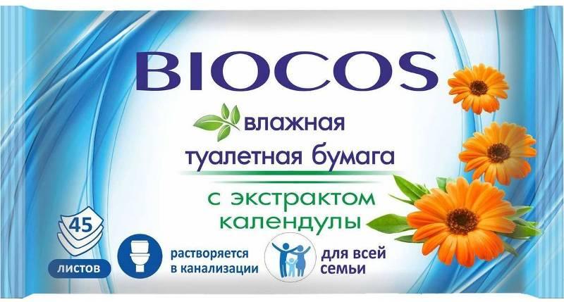BioCos влажная т/бумага Для всей семьи 45 шт.