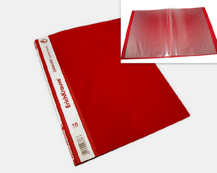 Папка на 010 файлов Erich Krause А4 красная