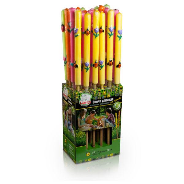 Свеча Help ароматизированная уличная на трости 70 см