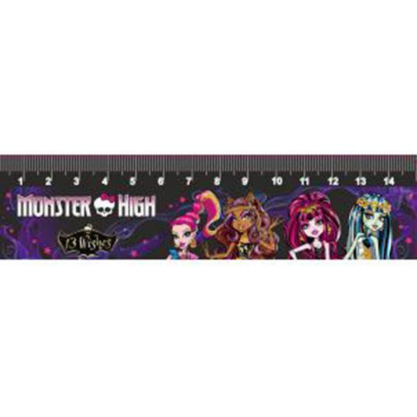Линейка 15 см. Centrum Monster high пластиковая цветная