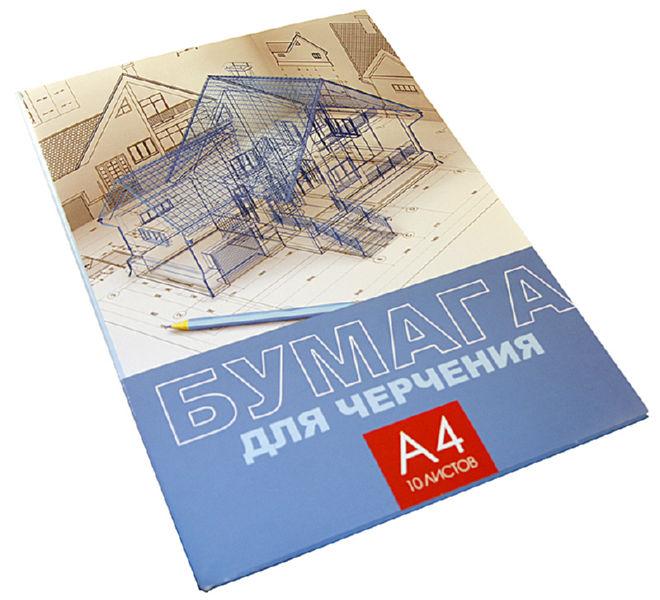Набор бумаги для черчения БиДжи Архитектура А4 (10 л.) в папке