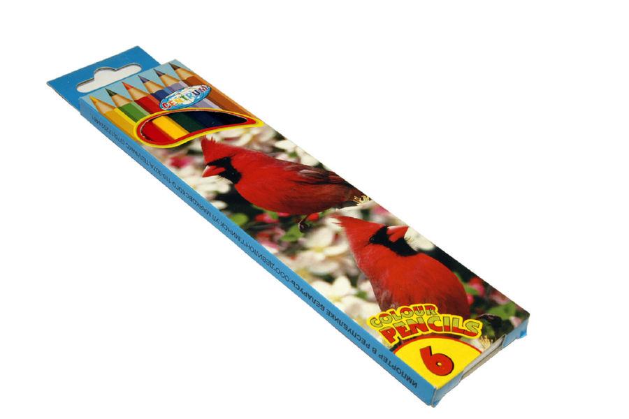 Карандаши цветные 06 шт Centrum картонная упаковка