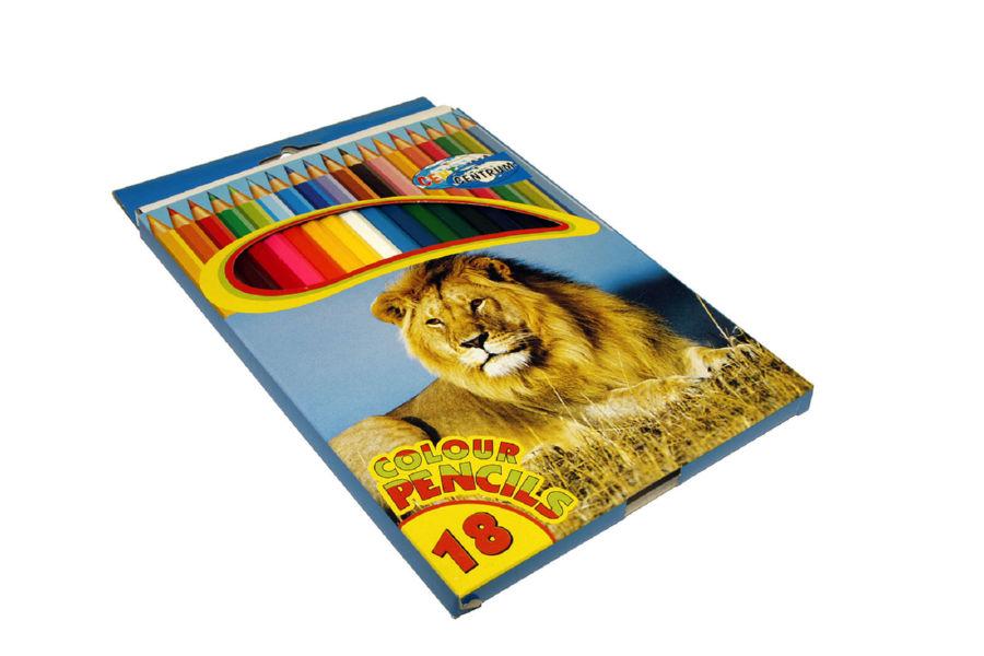 Карандаши цветные 18 шт Centrum картонная упаковка