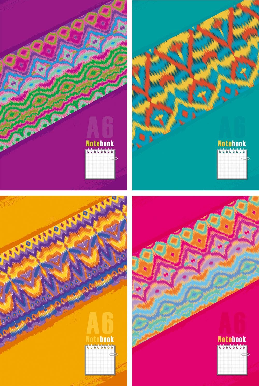 Блокнот А6 080л. Multicolor спираль сверху