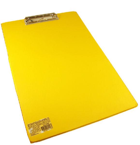 Планшет Brauberg Comfort А4 бумвинил желтый