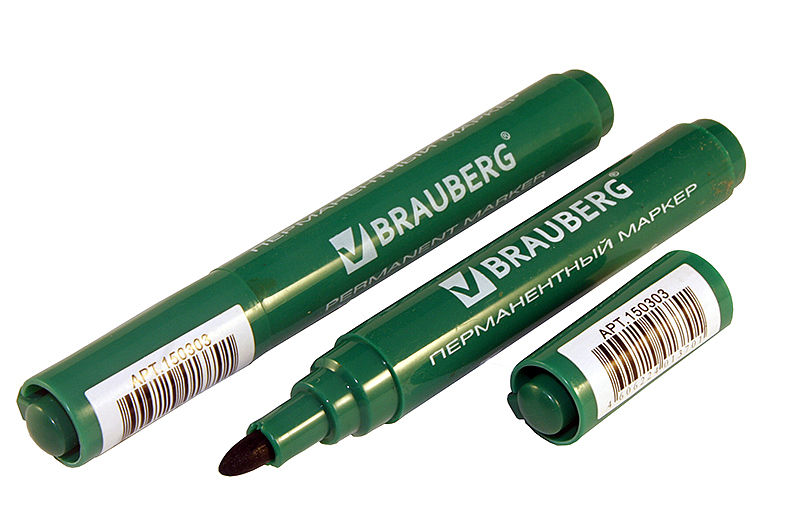 Маркер перманентный Brauberg Classic зеленый