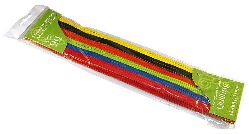 Картон для гофроквиллинга Hobby Time 05 мм, 96 полос, 6 цветов