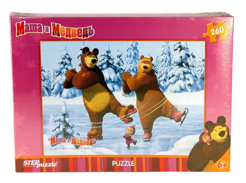 Пазлы Step puzzle 260 элементов Маша и Медведь