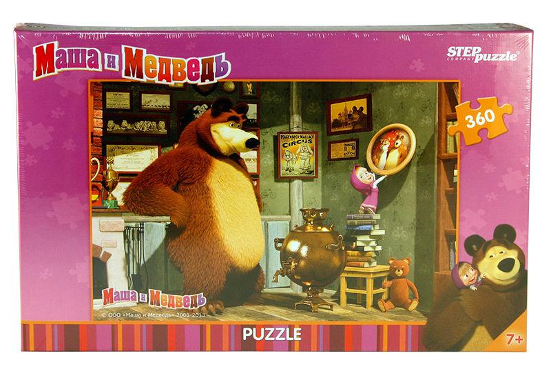 Пазлы Step puzzle 360 элементов Маша и Медведь