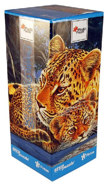 Пластиковые пазлы Step puzzle 300 элементов Леопарды