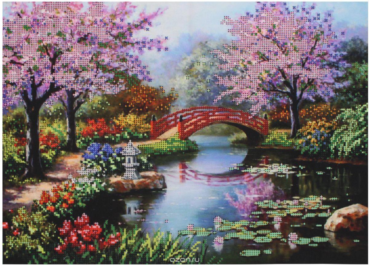 Набор для вышивания бисером Hobby&Pro Цветущий сад 40х28 см