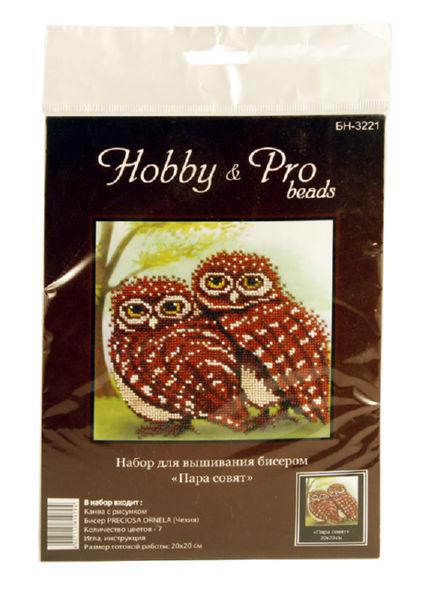 Набор для вышивания бисером Hobby&Pro Пара совят