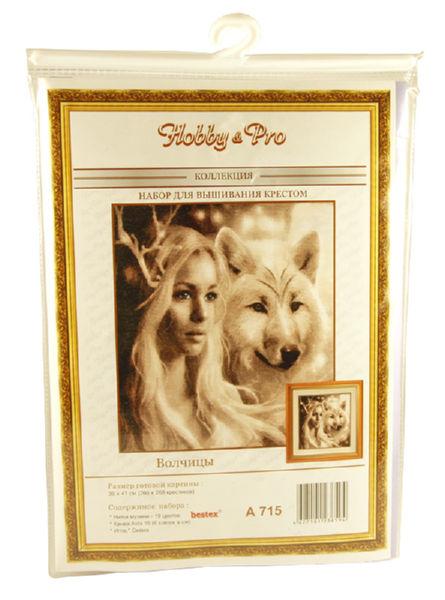 Набор для вышивания Hobby&Pro Волчицы 39х41 см
