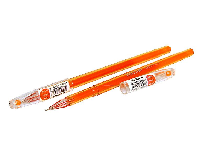 Ручка гелевая Mazari Lexy оранжевая