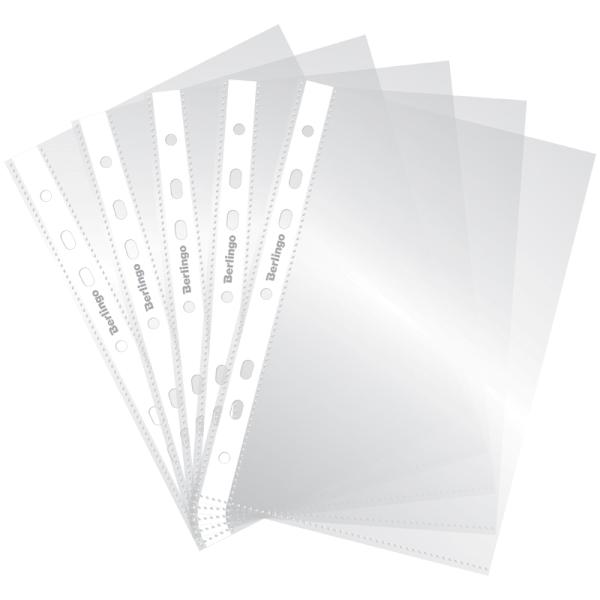 Файл A5 (030 мкр.) Berlingo глянцевый 100 шт