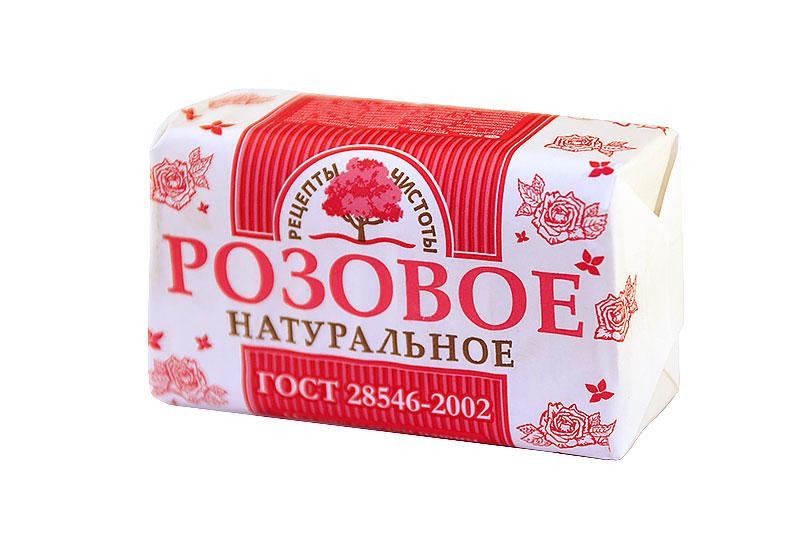 НМЖК Рецепты чистоты мыло туалетное 180г Розовое