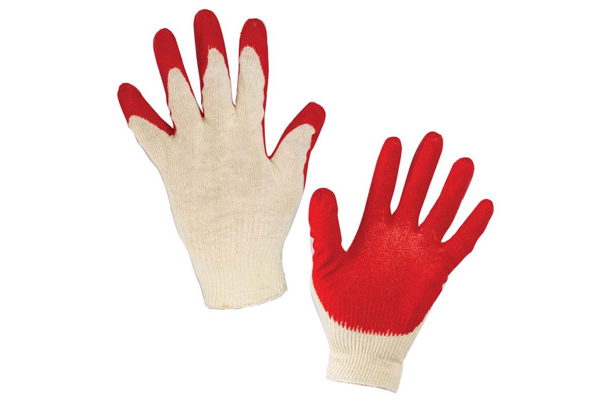 Перчатки х/б латекс ладонь (5 пар)